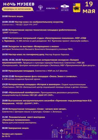 Ночь музеев 2018 в Энгельсском краеведческом музее