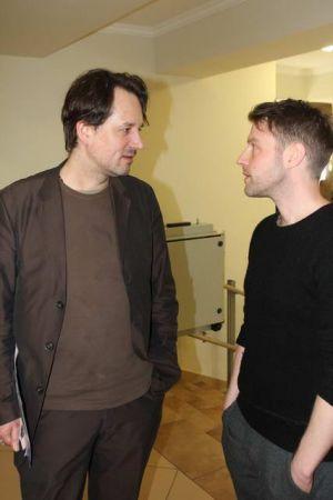 Вольф Иро (Институт Гёте) и Андреас Мерц (режиссёр). Фото А. Лапшина